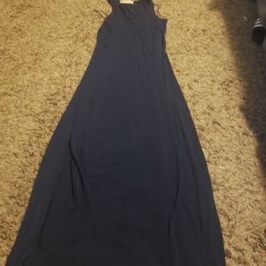 Ladies xxs navy blue maxi dress